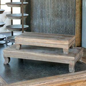 Far East Wooden Riser Set of 2