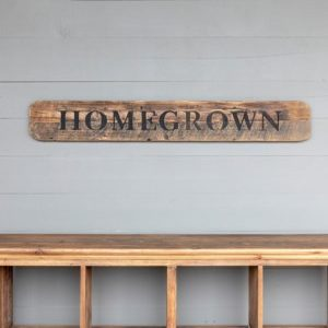 Wooden Homegrown Roadside Sign