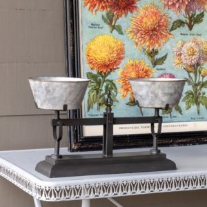 Black And Tin Scale Planter Large