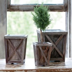 Petite Town & Country Planters Set3