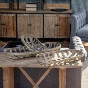 Oblong Tobacco Leaf Drying Basket Set of 3