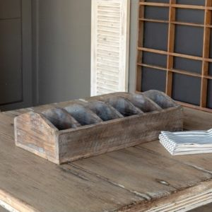 Divided Wooden Display Box # 21