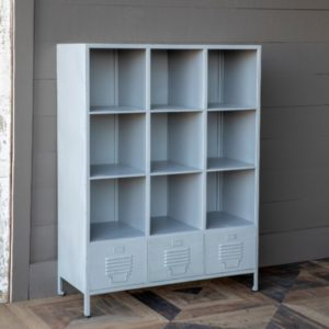 Metal School Cubby Shelf
