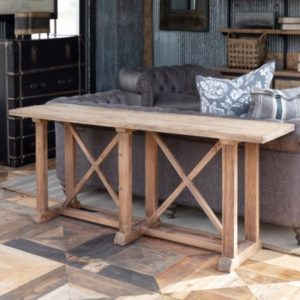 Bridges Reclaimed Oak and Pine Sofa Console
