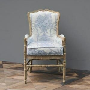 French Quarter Blue Provincial Fireside Chair