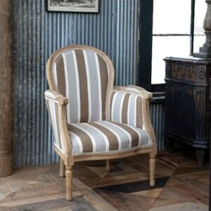 Linen Striped Townhouse Chair