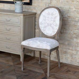 Tuscan Velvet Brocade Dining Chair