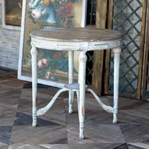 French Style Painted Petite Round Table