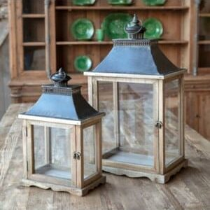 Display Box Lanterns Set of 2
