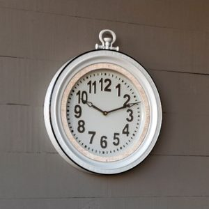 Enamel Schoolhouse Clock