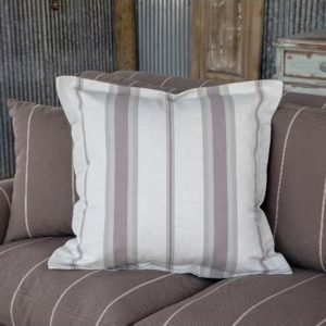 Dusty Pastel Striped Pillow