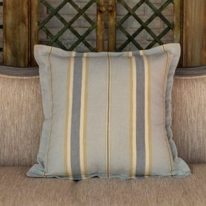 Depression Glass Striped Pillow