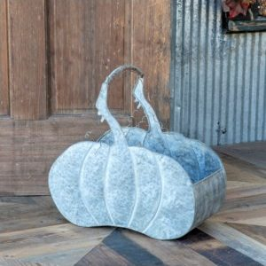 Big Metal Pumpkin Basket