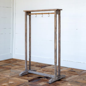 Garment Rack with Hooks