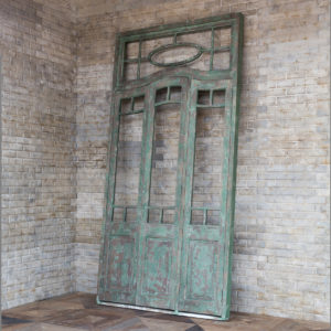 Aged Green Door Frame Relic
