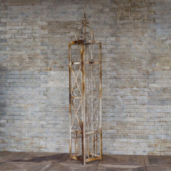 Aged Metal Trellis Column
