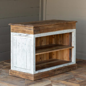 Old Elm Topped Painted Counter