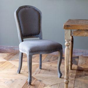 Grey Stripe Dining Chair Min 2