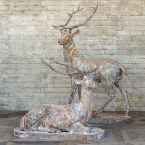 Cast Iron Estate Stags