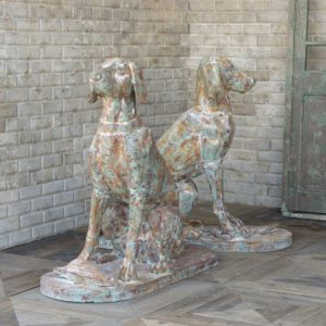 Cast Iron Hound Pair
