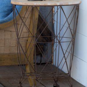 Wire Bin Table