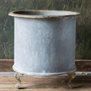 Large Footed Creamery Tank Planter