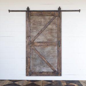 Sliding Barn Door With Rail Hardware