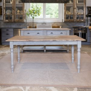 Painted Farm Table With Old Elm Top