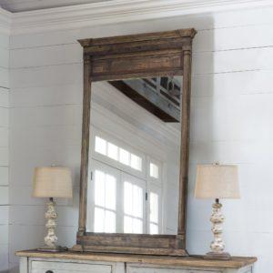 Old Elm Wood Mirror