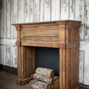 Reclaimed Pine Fireplace Mantle