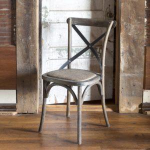 Metal Cross Back Chair (set of 2)