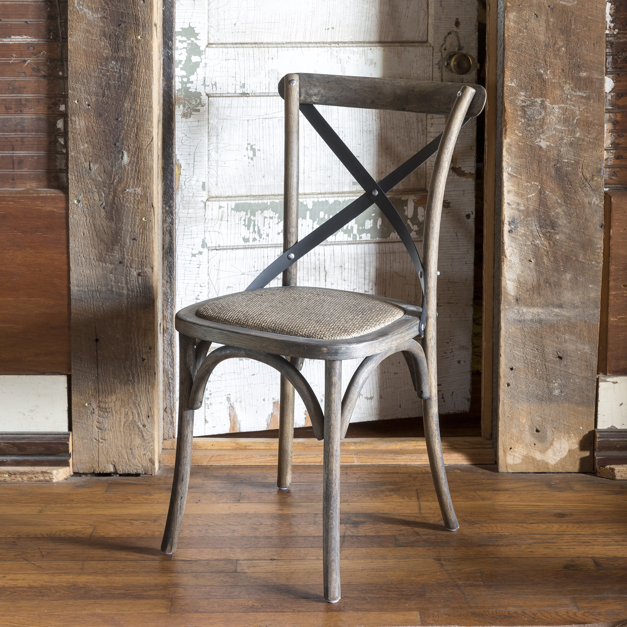 Metal Cross Back Chair (set of 2)