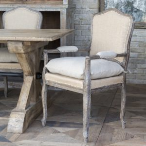 Weathered Oak Arm Chair