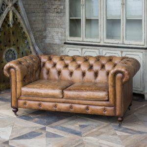 Harrisburg Leather Study Sofa