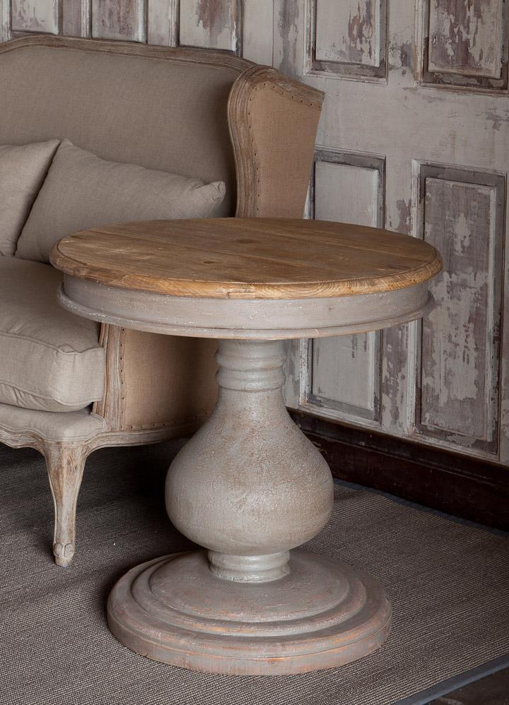 Vintaged Wooden Pedestal Table