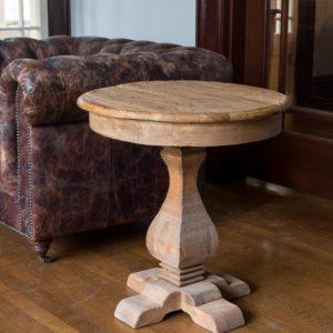 Linda Pedestal Side Table