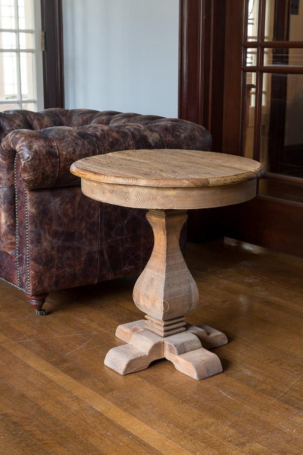 Linda Pedestal Side Table