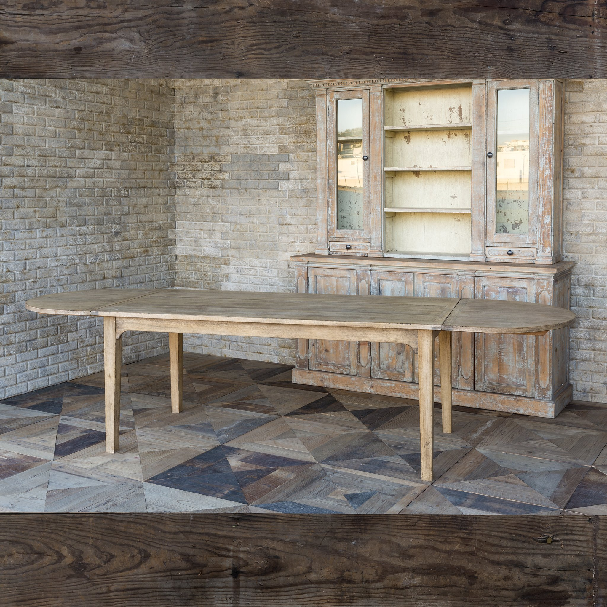 Long Hickory Dining Table Hillcrest