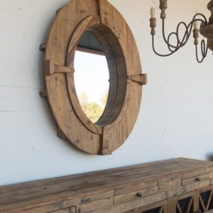 Oval Estate Window frame Mirror