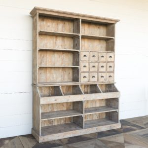 Old General Store Wooden Display Hutch